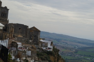 The view from up on top of Arcos