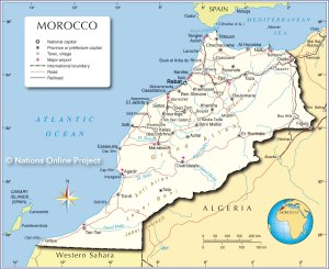Geography lesson:  Political Map of Morocco
