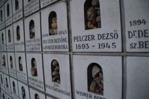 Also located at the Great Synagogue.  These are again Jewish victims.  The rocks are a very common symbol with the Holocaust.  It symbolizes the acknowledgement from the person who puts the stone there of the buried.  I will explain more in my Prague blog.