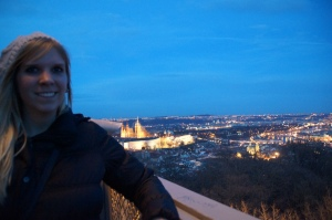 What up St. Vitus Church!  The view from the first look out on Petrin Tower!