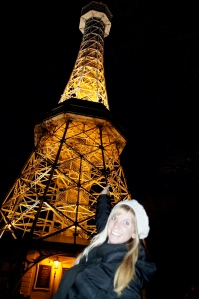 Look familiar?  I have this same picture in front of the Eiffel Tower in Paris.