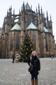 The backside of St. Vitus Cathedral.