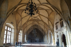The Great Hall of the Castle.  It is unique because there are no columns to support the roof.