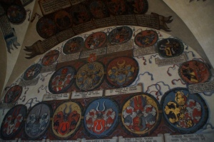 This room is covered in coats of arms of the nobility of Prague over the years.  I was hoping I could find the coat of arms of the Stark Family but alas I couldn't find it (Game of Thrones reference...)
