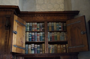 The Rule and Law books of the city of Prague.  These books are handwritten and decorated so that each could be easily found.