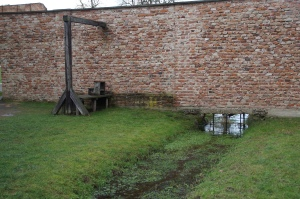 """This is on the other side of the knoll from the swimming pool.  This is the execution area.  Here prisoners were killed after their """"trials.""""  Can you imagine being a child of an officer, swimming in that pool and hearing people being killed behind the knoll?"""