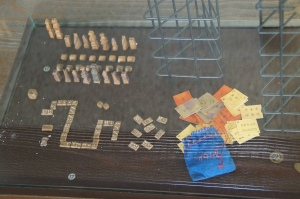 Handmade games from the prisoners.