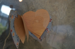 Handmade Valentine from one prisoner to another.