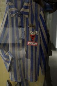 A male uniform of a prisoner.