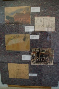 Many of the prisoners in Terezin were Jewish artists, musicians, writers, etc.  Within the ghettos these people didn't allow their imprisonment stop their creativeness.  Many prisoners created artwork to reflect the way of the life in the ghetto.