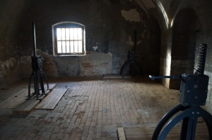 Indoor labor room.  Prisoners inside the Small Fortress as well as prisoners living in the ghetto were assigned jobs.