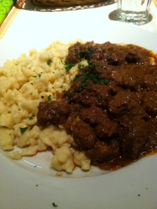 Hungarian stroganoff with more homemade noodles!