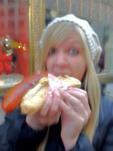 Couldn't handle my excitement with this giant pork hotdog.