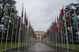 THE UN!!!!!!!!!!!!!!  Also a perk of being neutral, you get to hold all the important meetings!