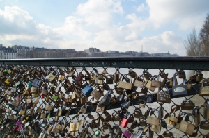 The love bridge.  Sadly Christine and I did not bring our love lock to profess our love to the world.