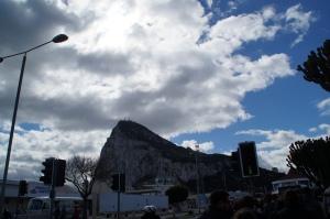 Gibraltar Rock from below.