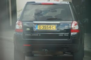 The cars even had United Kingdom license plates!