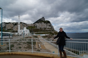 Trying not to blow away at Europa Point.