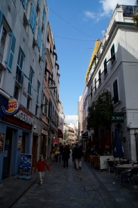 Main shopping street of Gibraltar.  Here you can buy many items duty-free.  It is very popular with the Spaniards.