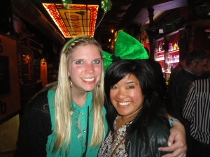 Lovely Leprechauns:  Clarisse and I