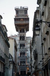 Elevator de Santa Justa.  It was built by the same guy who built the Eiffel Tower!