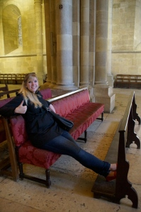 Riding first class in the Cathedral.