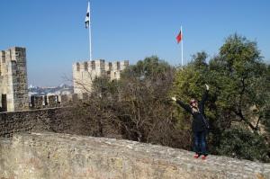 Just goofing around St. Jorge's Castle.
