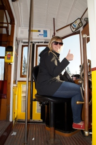 Picked up a side job while in Lisbon:  Tram driver.