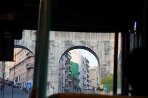 The only glimpse of the Roman Aqueducts, while we were on a bus. And then they are gone...