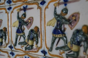Some of the tile work around the palace.