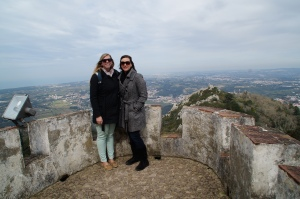 The view of the Moorish castle from the Pena Palace.