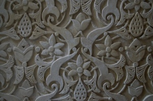 The original designs on the walls of the house.