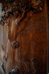 The original door to the library.  Make from Red oak.