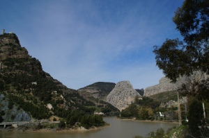 The city of El Chorro.  Yep, that's it folks.  A giant mountain.