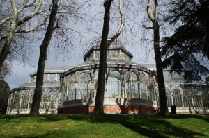 The Crystal Palace.  This was built in 1887 to house plants from the Philippines.  Now it is an event hall.