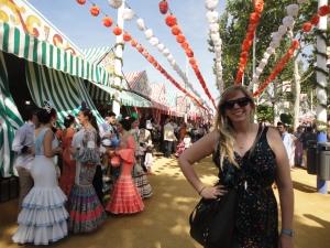 Enjoying the beautiful sun and weather in Feria!  Es una tiempo muy bien!