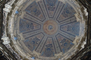 This is the cieling of the Dome of the cathedral.  It is one of the most impressive ones I have seen (trust me, I have seen plenty).