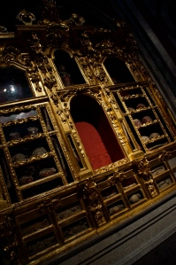 Inside this church was the biggest cabinet for bones of saints!