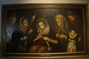 This painting was finished by his son after El Greco's death.
