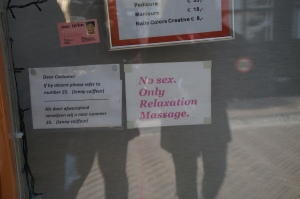 Well, that's what you get for being located IN the Red Light District.