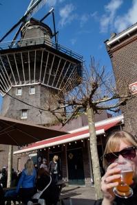 Enjoying a great beer at the Brouwerij 't IJ!