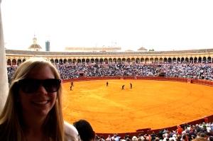 Enjoying the bullfight!