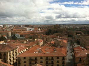 The view of Salamanca from the two towers.