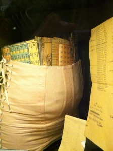 This is what pregnant women used to hold their pants up in the old days.  Many women would hide food stamps or even fake ID papers for Jewish people they were hiding.