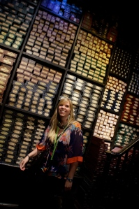 There are over 4,000 wands in this room and each have the names of all the people how helped create these films.