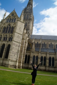 The Cathedral of Salisbury.  This place houses one of the original 4 copies of the Magna Carta.