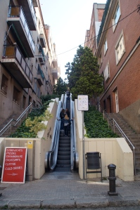 Damn straight Spain would have moving escalators to bring people alllll the way up to Parque Gruell.