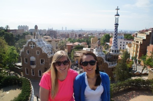 Loving the view from Parque Guell!