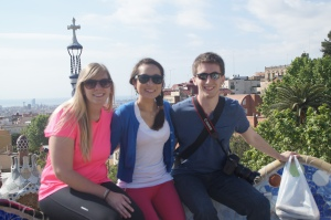 Enjoying the views of Parque Guell!