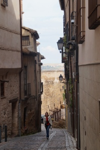 Toledo, Spain UPHILL THE WHOLE WAY.